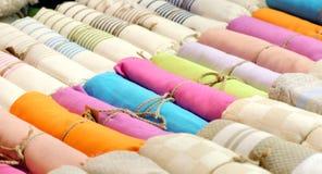 Bufandas coloridas Fotografía de archivo libre de regalías