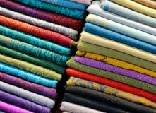 Bufandas coloridas Fotografía de archivo