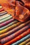Bufandas de la seda y de las lanas Imagen de archivo libre de regalías