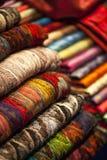 Bufandas de las lanas Fotografía de archivo
