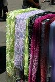 Bufandas de seda Imagen de archivo libre de regalías