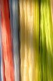 Bufandas en el estante Fotos de archivo libres de regalías