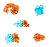 Bufandas multicoloras Imágenes de archivo libres de regalías