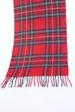 Bufandas rojas calientes y suaves del tartán Imagenes de archivo
