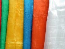Bufandas tibetanas (khata) Fotos de archivo libres de regalías