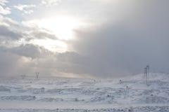 Bufera di neve Fotografia Stock Libera da Diritti