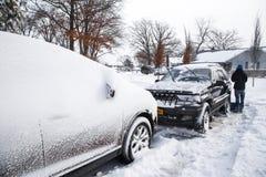 Bufera di neve Immagine Stock Libera da Diritti