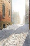 Bufera di neve alla luce solare Immagini Stock Libere da Diritti