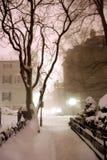 Bufera di neve a Boston fotografie stock