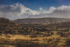 Bufera di neve che si avvicina alla valle di Verde fotografia stock libera da diritti