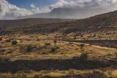 Bufera di neve che si avvicina alla valle di Verde immagine stock libera da diritti