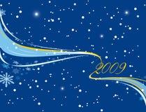 Bufera di neve del nuovo anno Fotografia Stock Libera da Diritti