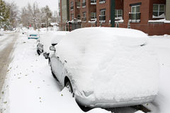 Bufera di neve di Denver, 29 ottobre 2009 Immagine Stock