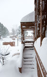 Bufera di neve di inverno Fotografie Stock Libere da Diritti