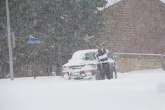 Bufera di neve di inverno Immagini Stock Libere da Diritti