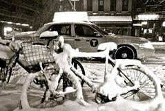 Bufera di neve di NYC Fotografia Stock