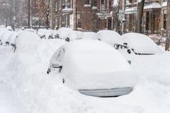 Bufera di neve di Montreal nel gennaio 2018 Immagini Stock Libere da Diritti