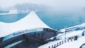 Bufera di neve né ` pasqua 13 marzo 2018 a Hartford Connecticut Nuova Inghilterra Immagini Stock Libere da Diritti