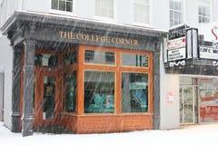 Bufera di neve su re Street, Charleston, Sc Immagini Stock