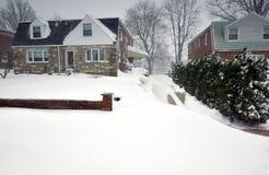 2016 bufere di neve medio-atlantiche (U.S.A.) Fotografia Stock Libera da Diritti