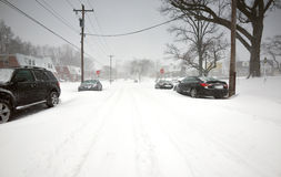 2016 bufere di neve medio-atlantiche (U.S.A.) Immagini Stock Libere da Diritti