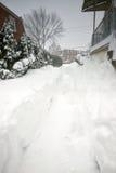 2016 bufere di neve medio-atlantiche (U.S.A.) Fotografie Stock Libere da Diritti