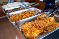 Bufet dla lunchu na łodzi fotografia royalty free