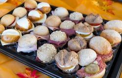 Bufet mélangé de sandwich Photo stock
