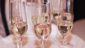 Bufet, szampański szkło stojak na tacy zbiory