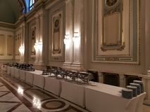 Bufet w luksusowym korytarzu fotografia stock