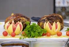 Bufet z mięsem 3 i warzywami obraz stock