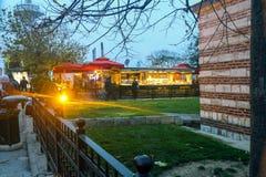 Bufeta Historycznego budynku ogród Uskudar Istanbuł Turcja zdjęcia stock