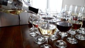 Bufeta i baru witk wino zbiory wideo