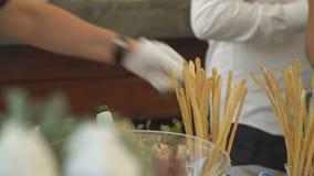 Bufeta stół z przekąskami zdjęcie wideo