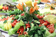 Bufete da salada imagens de stock