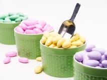 Bufete dos doces com colher imagens de stock royalty free