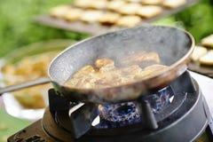 Bufete exterior do alimento do casamento Fotografia de Stock Royalty Free