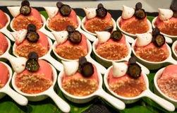 Bufete no restaurante de Nagaworld, Phnom Penh fotos de stock