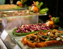 Bufete sortido do alimento Fotografia de Stock