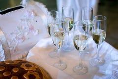 Bufety, zakąski, poślubia stół zdjęcia stock
