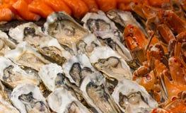 Buffé av skaldjur Arkivbilder