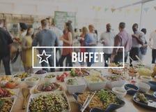 Buffémat som sköter om kulinariskt ätabegrepp för kokkonst fotografering för bildbyråer