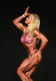 Buff, Blonde, Middle-Aged Bodybuilder Royalty Free Stock Images