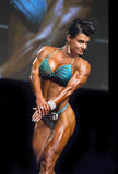Buff and Curvy Physique Contestant in Vancouver. Kristina Dybdahl-Farnsworth of Santee, California, displays an impressive muscularity, a developed, defined, and Stock Photo