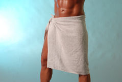 Buff guy with towel Royalty Free Stock Photos