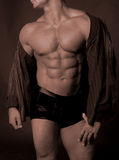 Buff muscle chest Stock Image