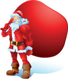 Buff Santa con el bolso del espacio del texto Imagen de archivo libre de regalías
