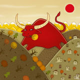 Buffalo. This is an Illustration for One of Italian Tales royalty free illustration