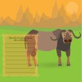 Buffalo africain Images libres de droits