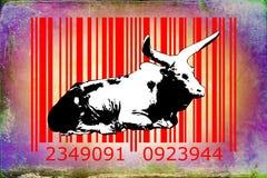 Buffalo barcode animal design art idea Stock Photo